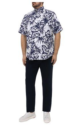 Мужская хлопковая рубашка POLO RALPH LAUREN синего цвета, арт. 711834499/5306/PRL BS | Фото 2