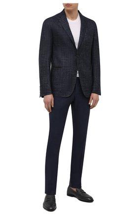 Мужские кожаные пенни-лоферы webb BALLY темно-серого цвета, арт. WEBB-U/501 | Фото 2 (Мужское Кросс-КТ: Лоферы-обувь; Стили: Классический; Материал внутренний: Натуральная кожа)