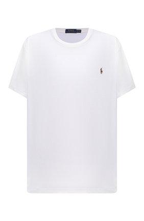 Мужская хлопковая футболка POLO RALPH LAUREN белого цвета, арт. 711746817/PRL BS | Фото 1 (Big sizes: Big Sizes; Рукава: Короткие; Длина (для топов): Удлиненные; Стили: Кэжуэл; Материал внешний: Хлопок; Принт: Без принта)