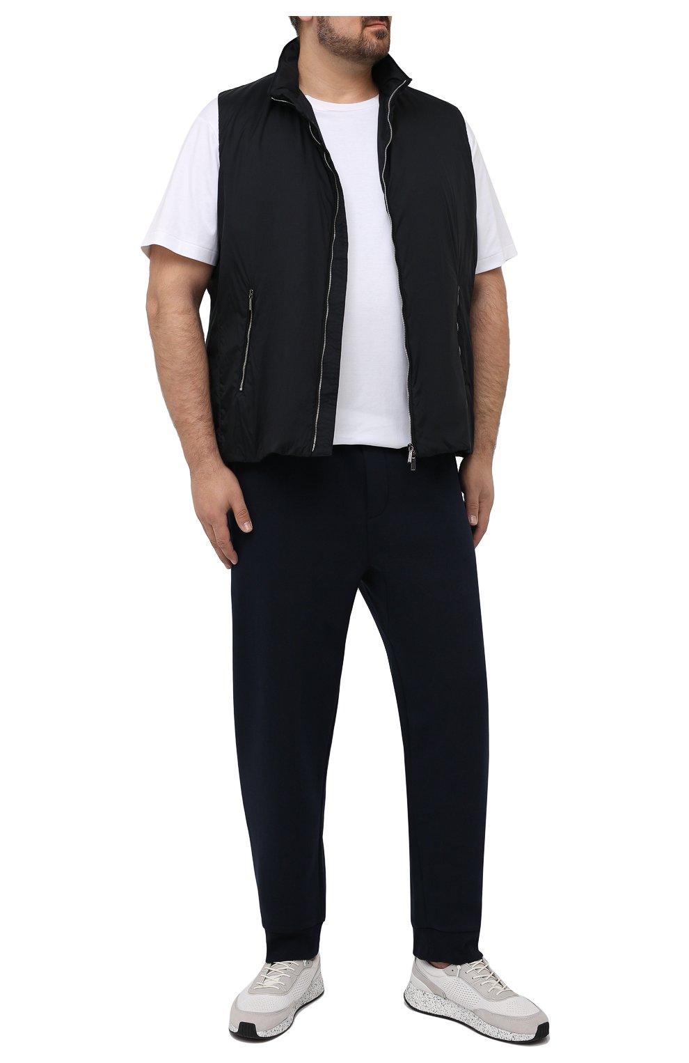 Мужская хлопковая футболка POLO RALPH LAUREN белого цвета, арт. 711746817/PRL BS   Фото 2 (Big sizes: Big Sizes; Принт: Без принта; Рукава: Короткие; Длина (для топов): Удлиненные; Материал внешний: Хлопок; Стили: Кэжуэл)