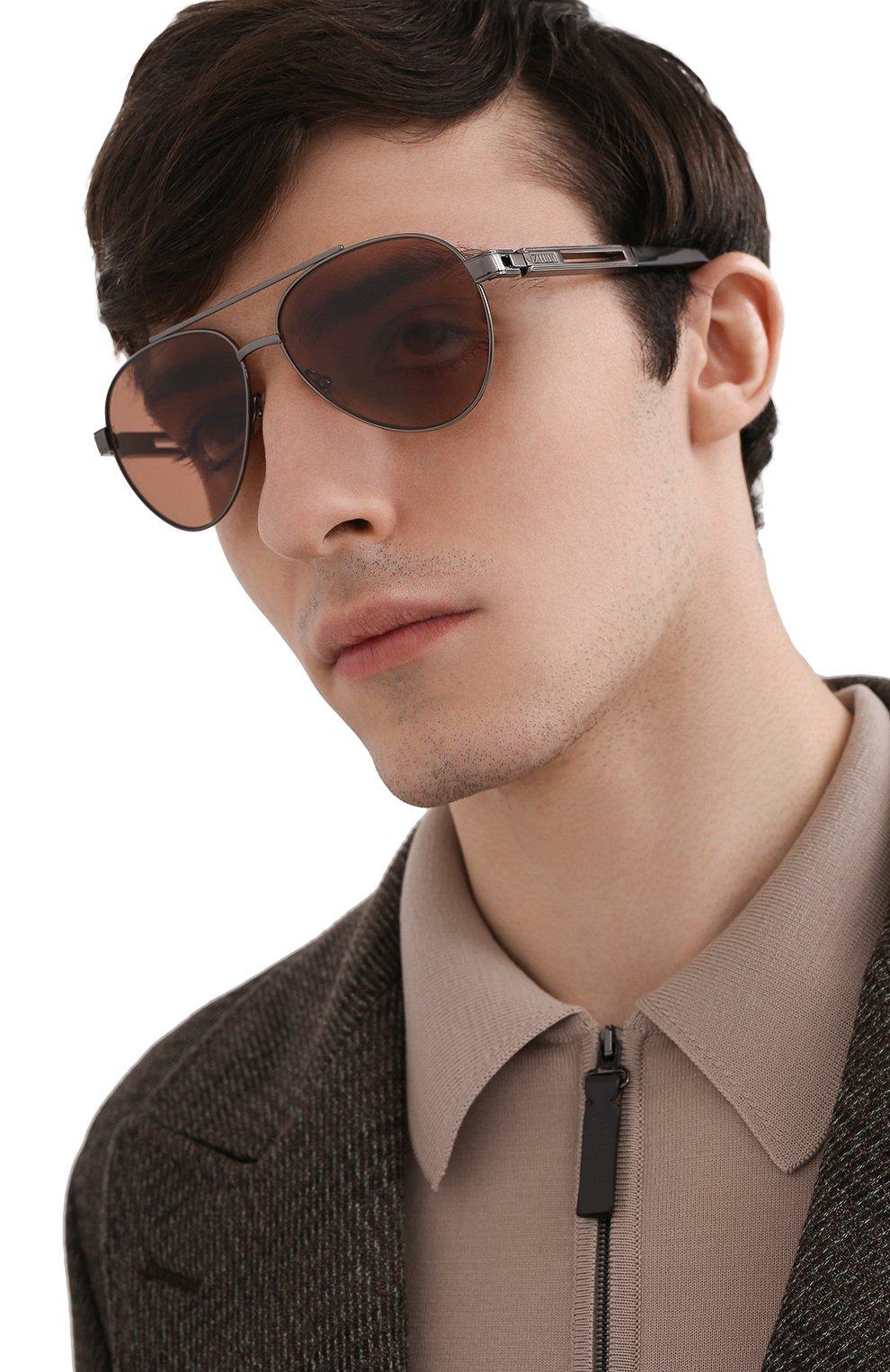 Мужские комплект из трех солнцезащитных очков ZILLI разноцветного цвета, арт. MIP-65007-C0FFR/0001 | Фото 2