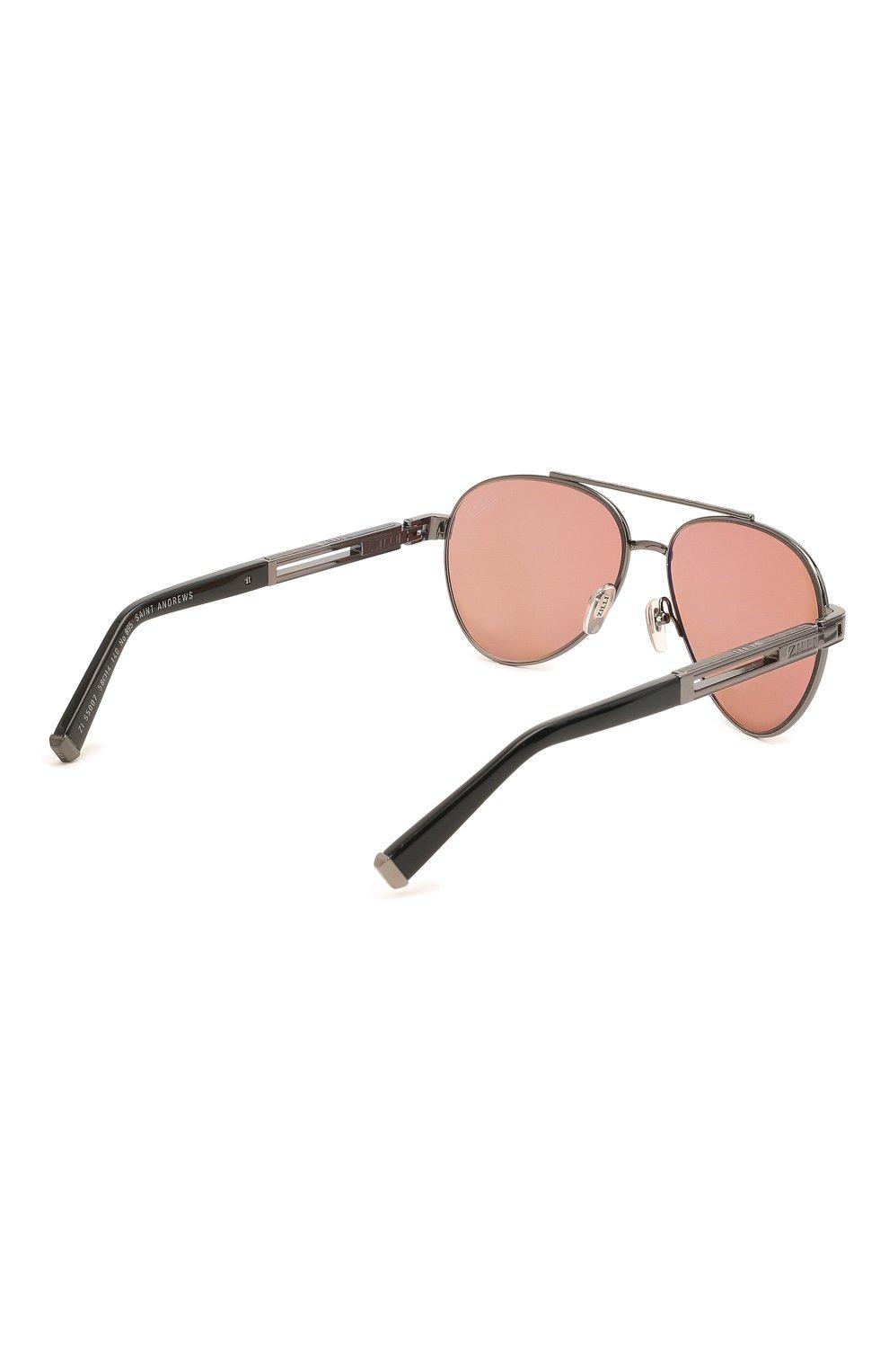 Мужские комплект из трех солнцезащитных очков ZILLI разноцветного цвета, арт. MIP-65007-C0FFR/0001 | Фото 4