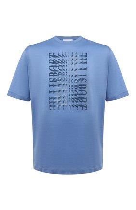 Мужская хлопковая футболка ZILLI SPORT голубого цвета, арт. MEV-NT500-SP0R1/MC01 | Фото 1