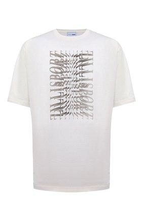 Мужская хлопковая футболка ZILLI SPORT белого цвета, арт. MEV-NT500-SP0R1/MC01 | Фото 1
