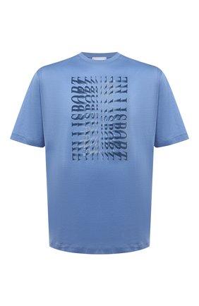 Мужская хлопковая футболка ZILLI SPORT голубого цвета, арт. MEV-NT500-SP0R1/MC01/66-68 | Фото 1