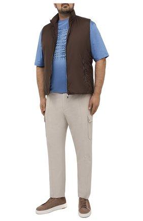 Мужская хлопковая футболка ZILLI SPORT голубого цвета, арт. MEV-NT500-SP0R1/MC01/66-68 | Фото 2
