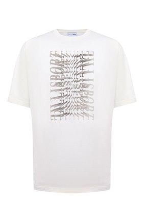 Мужская хлопковая футболка ZILLI SPORT белого цвета, арт. MEV-NT500-SP0R1/MC01/66-68   Фото 1