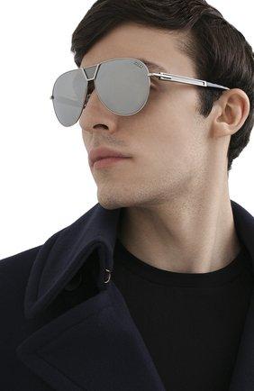 Мужские солнцезащитные очки ZILLI серебряного цвета, арт. MIP-65045-LUNET/0001 | Фото 2