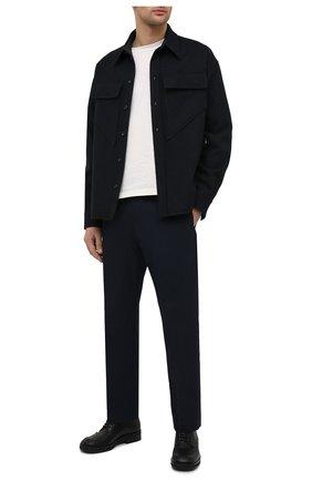 Мужские хлопковые брюки DRIES VAN NOTEN темно-синего цвета, арт. 211-20915-2167 | Фото 2
