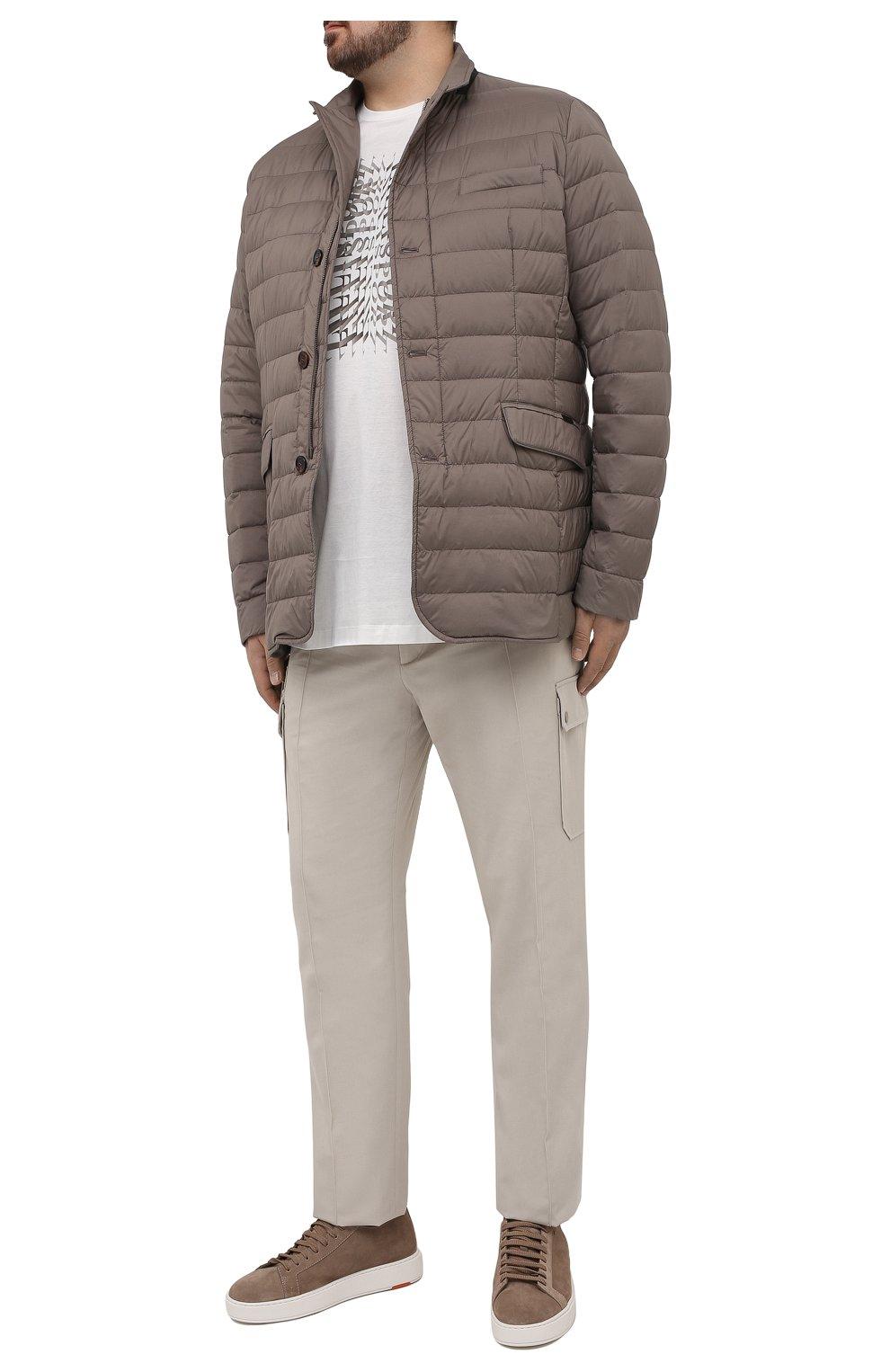 Мужская пуховая куртка zavyer-s3 MOORER бежевого цвета, арт. ZAVYER-S3/M0UGI100071-TEPA028/60-68   Фото 2