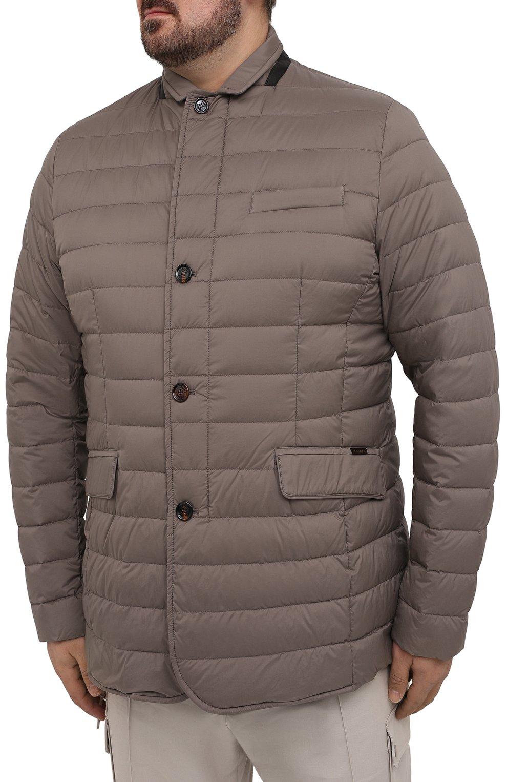 Мужская пуховая куртка zavyer-s3 MOORER бежевого цвета, арт. ZAVYER-S3/M0UGI100071-TEPA028/60-68   Фото 3