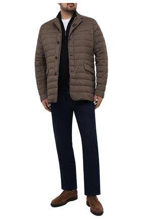 Мужская пуховая куртка zavyer-s3 MOORER коричневого цвета, арт. ZAVYER-S3/M0UGI100071-TEPA028/60-68 | Фото 2 (Материал утеплителя: Пух и перо; Материал внешний: Синтетический материал; Кросс-КТ: Куртка; Мужское Кросс-КТ: пуховик-короткий; Big sizes: Big Sizes; Рукава: Длинные; Стили: Кэжуэл; Материал подклада: Синтетический материал; Длина (верхняя одежда): До середины бедра)