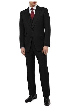 Мужской шерстяной костюм-тройка TOM FORD черного цвета, арт. Q22R97/31AL43 | Фото 1