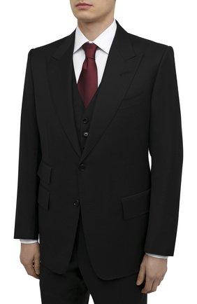 Мужской шерстяной костюм-тройка TOM FORD черного цвета, арт. Q22R97/31AL43 | Фото 2