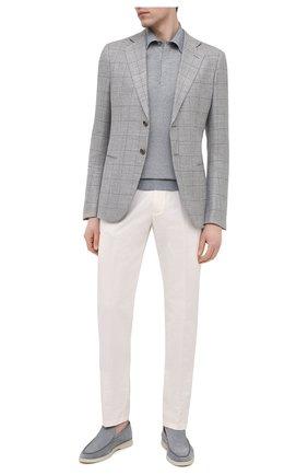 Мужской пиджак из шерсти и льна GIORGIO ARMANI серого цвета, арт. 8WGGG020/T02HR | Фото 2