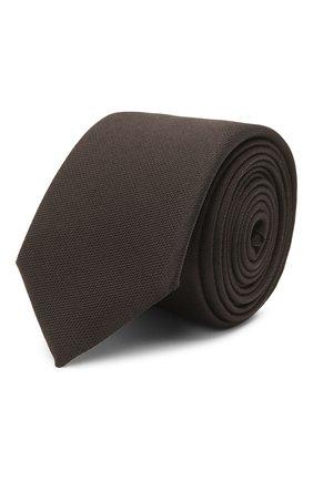 Мужской шелковый галстук BOSS темно-коричневого цвета, арт. 50452591   Фото 1