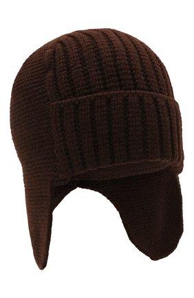 Мужская шапка-ушанка bright CANOE коричневого цвета, арт. 3447929 | Фото 1