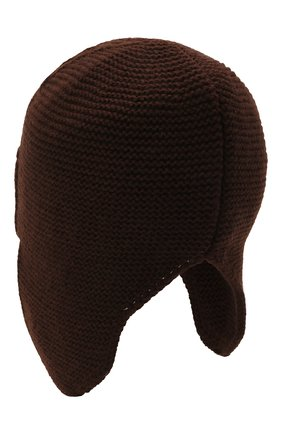 Мужская шапка-ушанка bright CANOE коричневого цвета, арт. 3447929 | Фото 2
