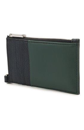 Мужской кожаный кошелек для монет BOSS темно-синего цвета, арт. 50446706 | Фото 2