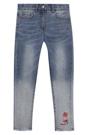 Детские джинсы MONNALISA синего цвета, арт. 197407R2 | Фото 1