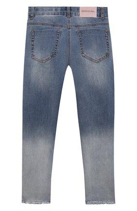 Детские джинсы MONNALISA синего цвета, арт. 197407R2 | Фото 2