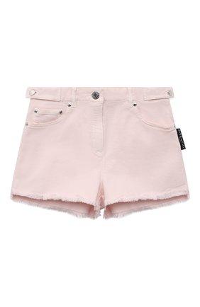 Детские джинсовые шорты GIVENCHY светло-розового цвета, арт. H14128   Фото 1