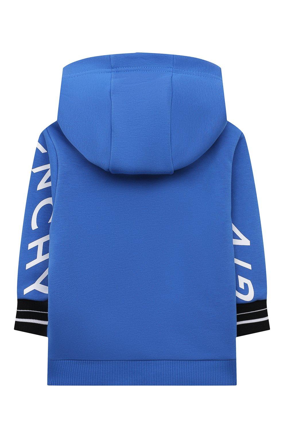 Детский хлопковая толстовка GIVENCHY синего цвета, арт. H05155   Фото 2