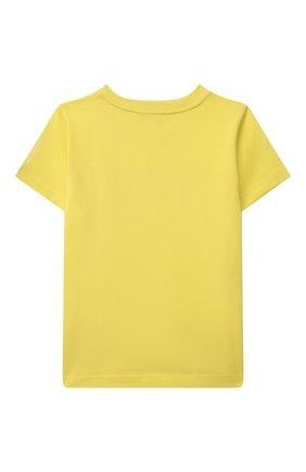 Детская хлопковая футболка GIVENCHY желтого цвета, арт. H25253 | Фото 2