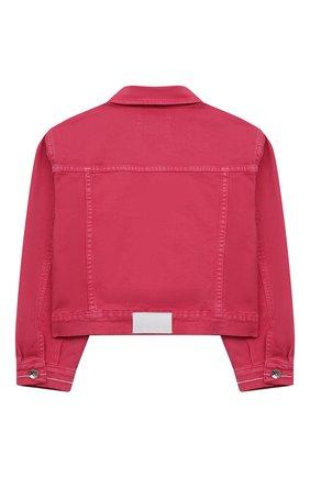 Детская джинсовая куртка MSGM KIDS розового цвета, арт. MS026843 | Фото 2 (Материал внешний: Хлопок; Рукава: Длинные; Кросс-КТ: Деним; Ростовка одежда: 10 - 11 лет | 140 - 146см, 12 лет | 152 см, 13 - 15 лет | 158 см, 8 лет | 128 см)
