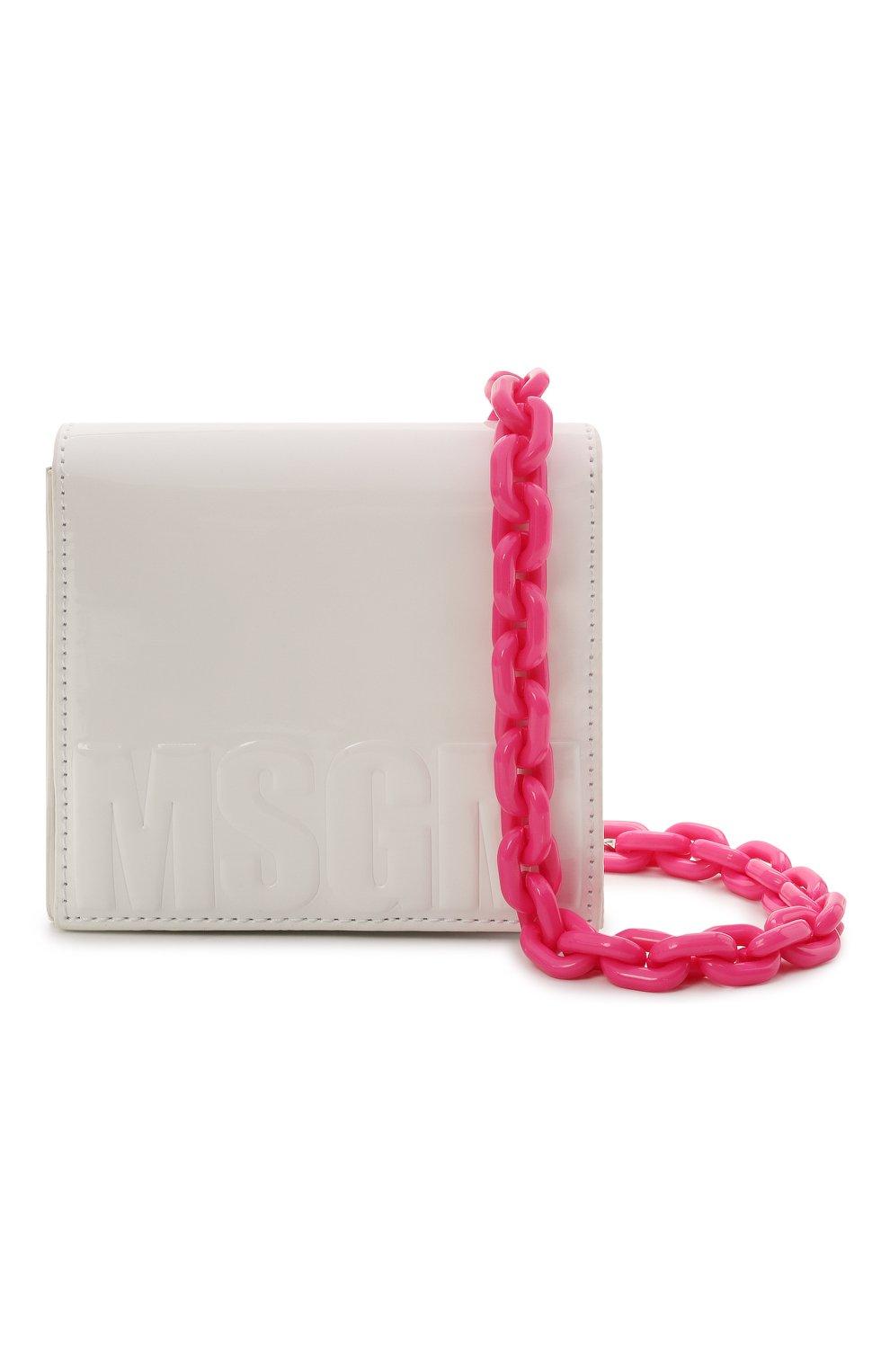 Детская сумка MSGM KIDS белого цвета, арт. MS026880 | Фото 4 (Материал: Экокожа)