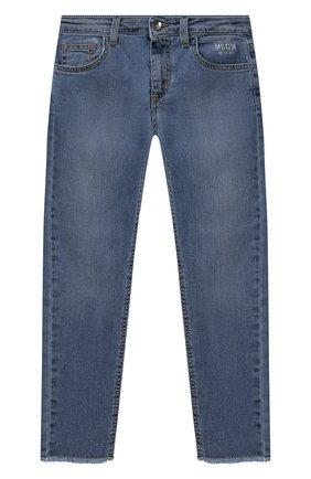 Детские джинсы MSGM KIDS синего цвета, арт. MS026869 | Фото 1