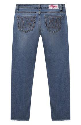 Детские джинсы MSGM KIDS синего цвета, арт. MS026869 | Фото 2