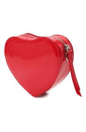 Детская сумка MSGM KIDS красного цвета, арт. MS026865   Фото 2 (Материал: Экокожа)