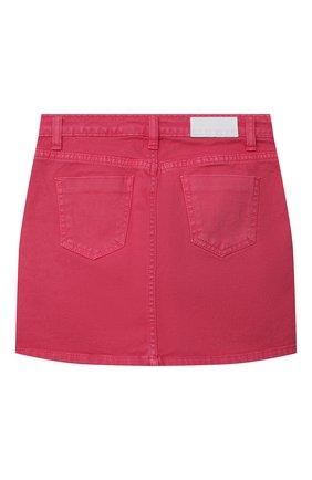 Детская джинсовая юбка MSGM KIDS розового цвета, арт. MS026859 | Фото 2