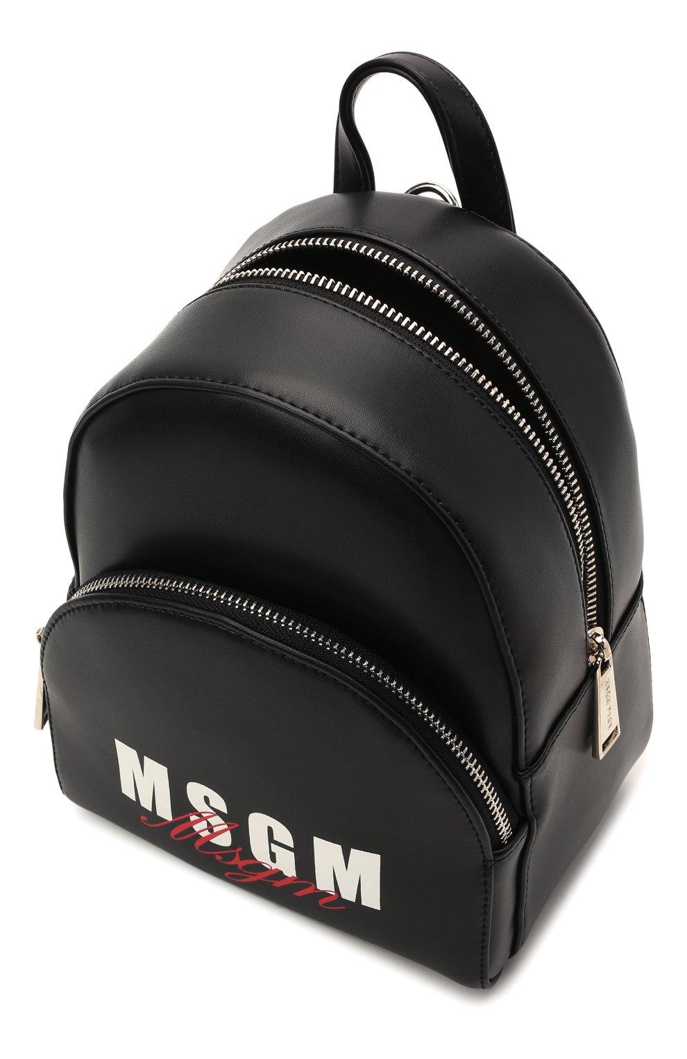 Детская рюкзак MSGM KIDS черного цвета, арт. MS026858 | Фото 3 (Материал: Экокожа)