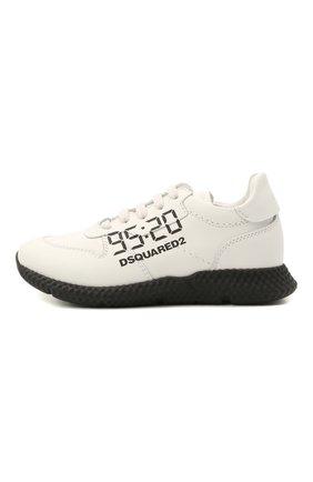 Детские кожаные кроссовки DSQUARED2 белого цвета, арт. 66911/KIPS/28-35 | Фото 2