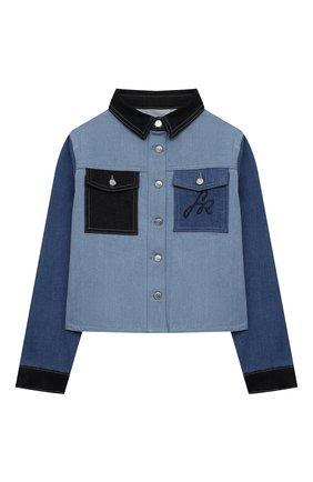 Детская джинсовая куртка SONIA RYKIEL ENFANT голубого цвета, арт. 21S10U06   Фото 1