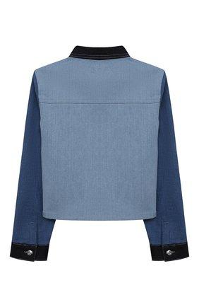 Детская джинсовая куртка SONIA RYKIEL ENFANT голубого цвета, арт. 21S10U06   Фото 2