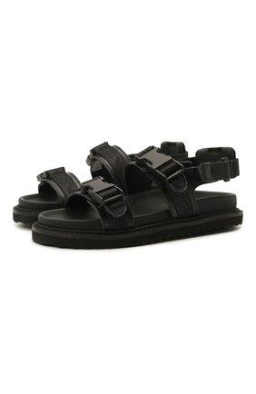 Детские сандалии EMPORIO ARMANI черного цвета, арт. XMP004/X0T38   Фото 1