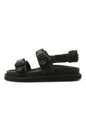 Детские сандалии EMPORIO ARMANI черного цвета, арт. XMP004/X0T38   Фото 2