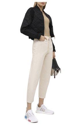 Женские текстильные кроссовки nmd_r1 ADIDAS ORIGINALS белого цвета, арт. FX7074 | Фото 2