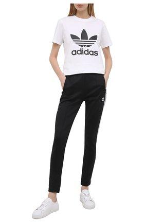Женские брюки ADIDAS ORIGINALS черного цвета, арт. GD2361 | Фото 2