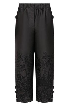 Женские шелковый брюки GIORGIO ARMANI черного цвета, арт. 1SHPP0GA/T02AG | Фото 1