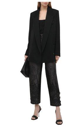Женские шелковый брюки GIORGIO ARMANI черного цвета, арт. 1SHPP0GA/T02AG | Фото 2