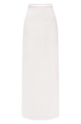 Женская льняная юбка JACQUEMUS белого цвета, арт. 211SK02/108114 | Фото 1