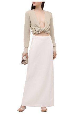 Женская льняная юбка JACQUEMUS белого цвета, арт. 211SK02/108114 | Фото 2