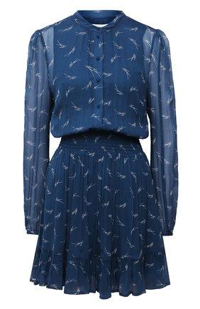 Женское платье из вискозы MICHAEL MICHAEL KORS синего цвета, арт. MH08ZJSGAV | Фото 1
