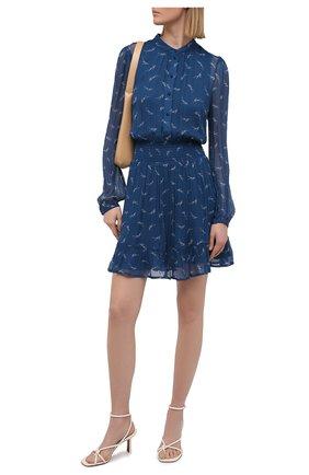 Женское платье из вискозы MICHAEL MICHAEL KORS синего цвета, арт. MH08ZJSGAV | Фото 2
