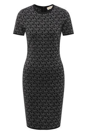 Женское платье из вискозы MICHAEL MICHAEL KORS черного цвета, арт. MH08063GLH | Фото 1