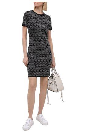 Женское платье из вискозы MICHAEL MICHAEL KORS черного цвета, арт. MH08063GLH | Фото 2
